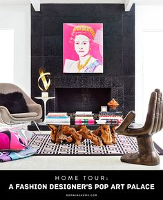 Home Tour: A Fashion Designer's Pop Art Palace