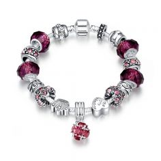 50 Shades of Ruby Red Designer Inspired Bracelet. Spoil yourself or someone you know this beautiful irresistible Designer Inspired Bracelet, for any occasion and sure to get a lot of attention! No matter if you're shopping for your own mother, or your grandmother, wife, daughter, or granddaughter, touch their heart with this beautiful, stunning and unique pair of jewelry. *Silver Plated Metal *Lead/Nickel Free *Material: Made with top Grade Crystal, and Glass Beads *Purchase 2 pieces or…