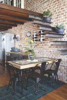 Super home modern loft stairs Ideas Industrial Style Kitchen, Industrial Interiors, Rustic Kitchen, Kitchen Ideas, Industrial House, Kitchen Modern, Interior Design Living Room, Living Room Designs, Interior Modern