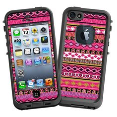 Pink Geometric Tribal #Skin  for the #lifeproof #iphone5 and #iphone5s #Case by #Skinzy.com