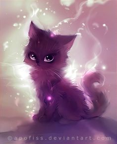 I often draw anime. And I often draw animals. Usually, I draw animals with anime-like feature like this cat. Manga Art, Manga Anime, Anime Art, Cute Animal Drawings, Cute Drawings, Drawing Animals, Anime Animals, Cute Animals, Animal Paintings