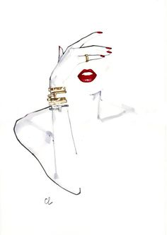 Marc-Antoine Coulon. Fashion illustration on Artluxe Designs. #artluxedesigns