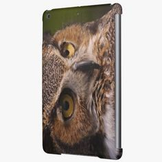 It's cute! This Great Horned Owl, Bubo virginianus iPad Air Covers is completely customizable and ready to be personalized or purchased as is. Click and check it out!