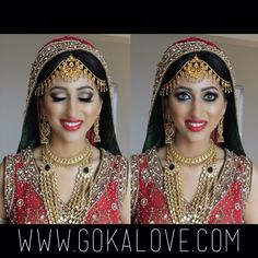 My lovely Pakistani Bride! Indian Wedding, Red Lehnga, Makeup, Hair, Boston, Massachusetts.
