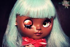 Wink!! Ione, OOAK Beautiful Brown Blythe Wendy Weekender Custom by My Delicious Bliss