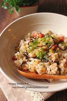 Shio Kombu Mayo Fried Rice『レンジで2分!ランチに塩昆布マヨチャーハン』