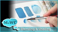 Blending watercolor paint can be a bit puzzling for beginners. Its not difficult, it just takes practice and a different way of thinking than shading or blen...