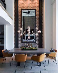 Loft Design, Küchen Design, Modern House Design, Modern Houses, Loft Interior, Luxury Interior Design, Interior Decorating, Gray Interior, Dining Room Design