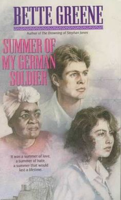 Summer of My German Soldier by Bette Greene  (Historical Fiction)    When her small hometown in Arkansas becomes the site of a camp housing German prisoners during World War II, 12-year-old Patty Bergen learns what it means to open her heart. Although she's Jewish, she begins to see a prison escapee, Anton, not as a Nazi--but as a lonely, frightened young man with feelings not unlike her own...