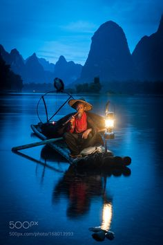 Cormorant Fisherman on Li River by snamstorm Countries Around The World, Around The Worlds, Guilin, Photo Boards, White Gardens, Unique Photo, Nature Wallpaper, Tibet, Beauty Photography