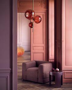 Casinha colorida: As cores que dominarão 2018 Colorful house: The colors that will dominate 2018 Interior Rugs, Home Interior Design, Interior Styling, Interior Architecture, Interior Decorating, Color Interior, Orange Interior, Contemporary Architecture, Modern Contemporary