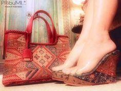 PUTRI_BOGOR Ethnic Bag, Bogor, Small Leather Goods, Model, Sew, Wedges, Tote Bag, Fashion, Moda