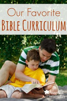 This is our favorite Bible curriculum that we also use as a family devotion and discipleship tool!