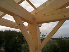 appenti tradi assemblage bois Construction, Bulletin Board, Woodworking Tools, Outdoor Structures, Crafts, Inspiration, Gardens, Ceilings, Building A Pergola
