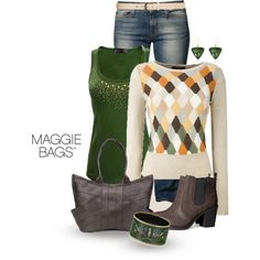 Argyle Jumper, created by maggiebags on Polyvore