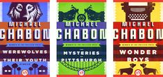 """Connie Gabbert designs the """"covers"""" for 5 e-book editions of works by Michael Chabon, inspired by """"nostalgia for bygone modes of storytelling."""""""