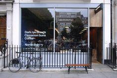 "Photo of Nordic Bakery - ""Nordic Bakery & Café on Golden Square"" - London Bakery London, London Food, London Coffee Shop, Soho Style, Street House, Cafe Shop, Shop Fronts, Shop Front Design, Facade Design"