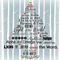 names of Christ free printable by Hemmed In; 25 names of Christ for 25 days till Christmas; make ornaments with a name and open one each day on advent calendar