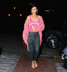 Rihanna at Da Silvano Restaurant in New York
