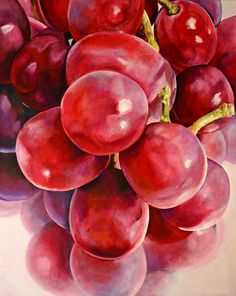 Red Grape Reflections Painting