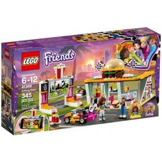 LEGO Friends - Drifting Diner and thousands more of the very best toys at Fat Brain Toys. Build a burger restaurant, a drive-in theater screen, a speedy go-kart, and a go-kart launcher! The diner features a takeout window, a b. Drive In, Shop Lego, Buy Lego, Lego Store, Karting, Legos, Classic American Diner, Burger Laden, Friendship House