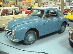 """1951 Gutbrod Superior 600 Luxus. """"It should be far SUPERIOR to all other small cars""""  That was the dream that Walter Gutbrod had in 1949.  The car was practical and in good taste and still priced less than a Volkswagen Beetle.  The """"Luxus"""" version, means it has a better trim level which includes, a White Steering Wheel and Clock in the Dash.  While the """"Luxus"""" version was only built for one year, the """"Standard"""" 600 was built until 1954."""
