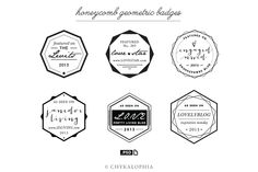 Check out Honeycomb Geometric Badges PSD by Chykalophia on Creative Market