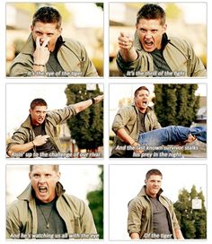 Dean has the eye of the tiger