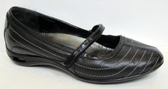 Cole Haan 'Air Bria Stitch' Black Leather Ballet Flat Size 6.5B #ColeHaan #MaryJanes