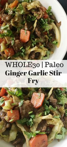 Ginger Garlic Stir Fry - Whole30 & Paleo friendly!
