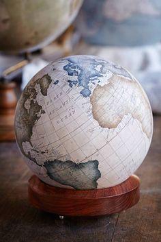 "mymodernmet: ""Bellerby & Co. Globemakers: One of the World's Only Globe-Making Studios Celebrates the Ancient Art of Handcrafted Globes "" Artemis, Samos, Vinyl Cafe, Desk Globe, Graffiti, Street Art, Studios, Art Ancien, World Globes"