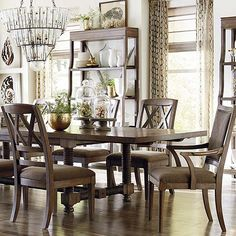 """104"""" Trestle Dining Table.  Our new Compass collection."""