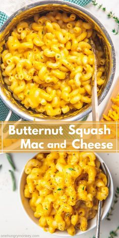 This Butternut Squash Mac and Cheese is creamy cheesy comforting and extremely satisfying. Its the perfect fall comfort food for a lazy Sunday or serves it as the side to one of your favourite holiday dishes! Easy Appetizer Recipes, Veggie Recipes, Dinner Recipes, Cooking Recipes, Healthy Recipes, Fall Vegetarian Recipes, Cheese Recipes, Vegetable Dishes, Gastronomia