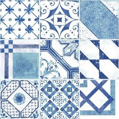 Maiolica/Blue Mix |printed tiles
