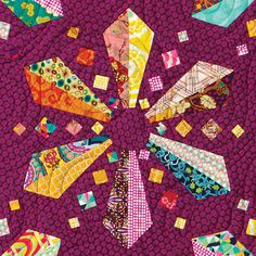 Rock Pools quilt block by Jane Davidson | Quilt Jane (Australia)
