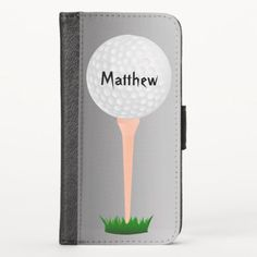 Golf Ball on Tee Silver Gray iPhone X Wallet Case golf net diy, diy golf gifts, golf drills #golfswag #tigerwoods #callaway, back to school, aesthetic wallpaper, y2k fashion