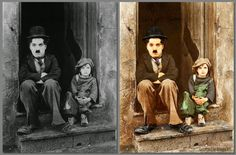 Charles Chaplin,Jackie Coogan, The Kid