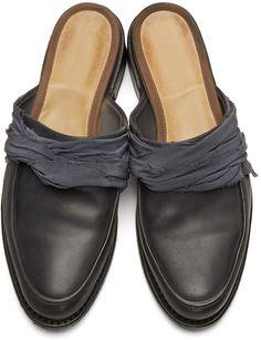 Cherevichkiotvichki - Black Blake Slip-On Loafers