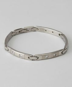 Take a look at this Stainless Steel & Signity Cubic Zirconia Link Bracelet by Nathan Hennick on #zulily today!