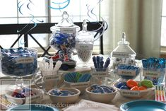 Sonic Party! Including Free Printables & a Blue & White Candy Bar/ Snippets of Design