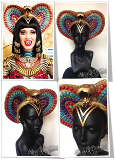 Madonna in a Philip Treacy headpiece for the stage   Head ... Katy Perry Dark Horse Egyptian Costume