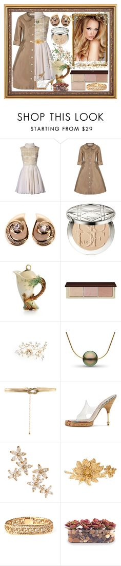 """""""Joey"""" by bren-johnson ❤ liked on Polyvore featuring Christian Dior, Franz Collection, Wedding Belles New York, Accessorize, Bonheur, Judith Leiber and John-Richard"""