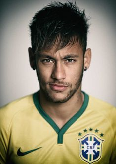 Neymar of Brazil poses during the official FIFA World Cup 2014 portrait session on June 2014 in Rio de Janeiro, Brazil. Get premium, high resolution news photos at Getty Images Messi And Neymar, Lionel Messi, James Rodriguez, Soccer Stars, Sports Stars, Soccer Boys, Good Soccer Players, Football Players, Cristiano Ronaldo