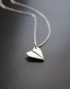 Paper Airplane Necklace  Simple Sterling Silver by SarahOfSweden, $30.00