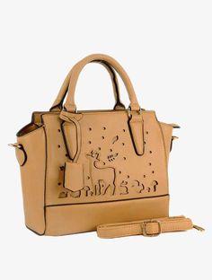 New Ladies Acess Handbag,Faux Leather Laser Cut Shoulder Bag