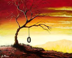 Acrylic Fine Art | Simple Bliss - Original Acrylic Landscape Painting- Fine Art