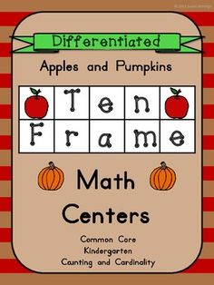 Apples and Pumpkins Differentiated Ten Frame Math Centers $3