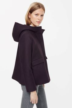 COS Short A-line hooded jacket