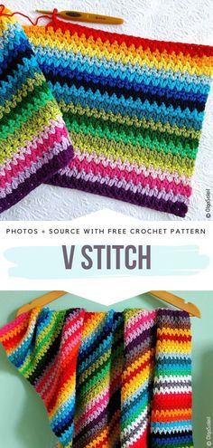 Free Patterns Crochet V Stitch Free Crochet Pattern Every crocheter kn. Free Patterns Crochet V Stitch Free Crochet Pattern Every crocheter knows the importance of having a big librar. Motifs Afghans, Crochet Afghans, Afghan Crochet Patterns, Stitch Patterns, Baby Afghans, Crochet Granny, Amigurumi Patterns, Crochet Shawl, V Stitch Crochet