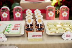 Little Red Riding Hood Food Label Cards and Cupcake Toppers